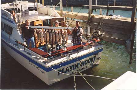 Charter boat fishing out of waukegan illinois 847 966 9678 for Waukegan fishing charters