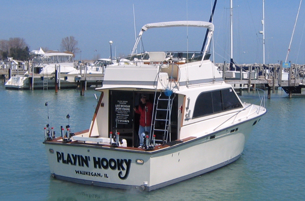 Chicago lake michigan salmon charters illinois salmon and for Waukegan fishing charters